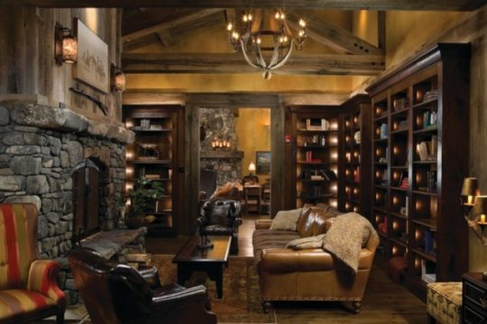 Home Library Ideas Rock Creek