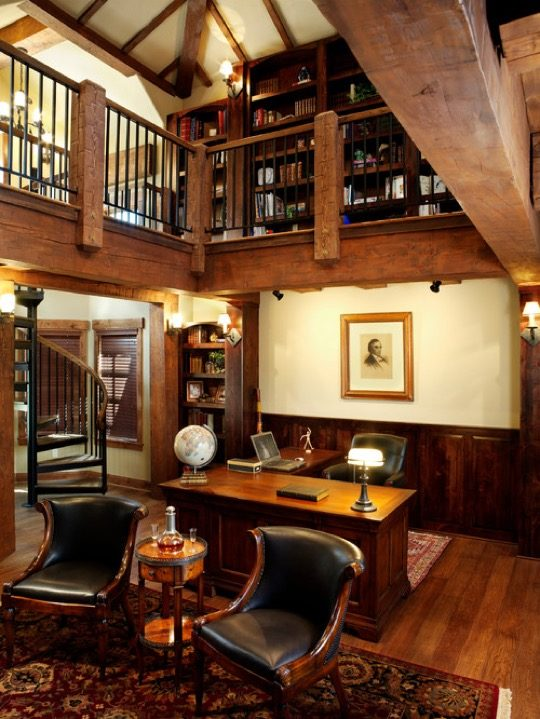 Home library ideas - Timber Frame Home
