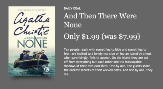 Kobo Store deals - Kobo Daily Deal is featured on a homepage