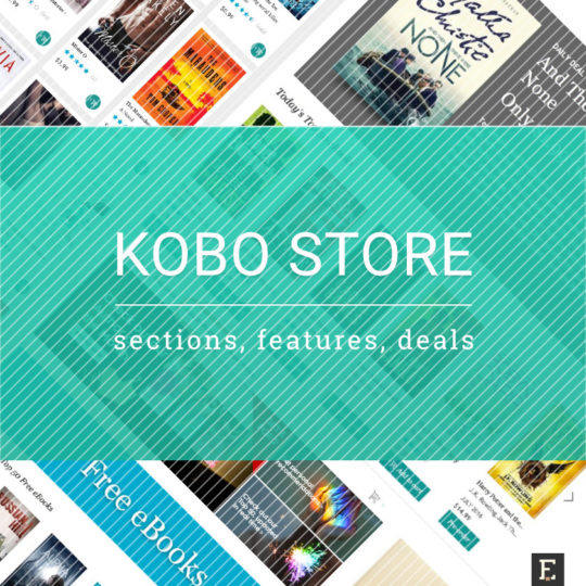 Kobo Store - links, sections, features, and deals
