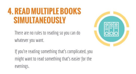 Read 100 books a year - read several books simultaneously
