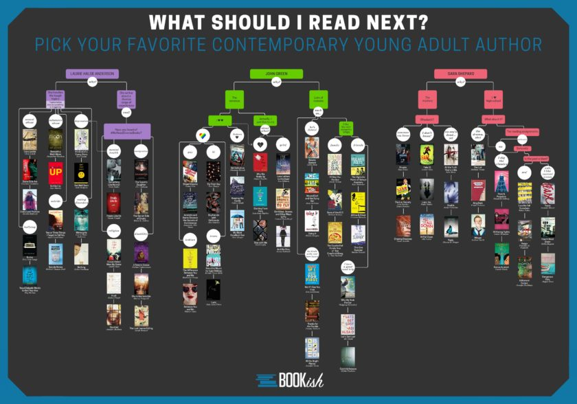 What should I read next - contemporary YA books #infographic #flowchart