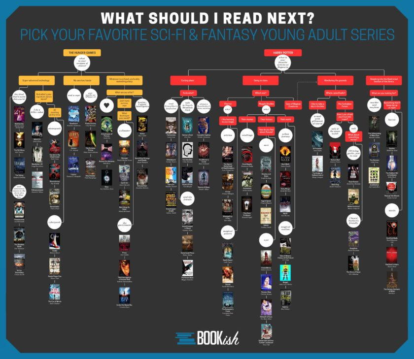 What should I read next - sci-fi & fantasy YA books #infographic #flowchart