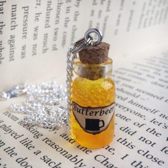Harry Potter Butterbeer Bottle Necklace
