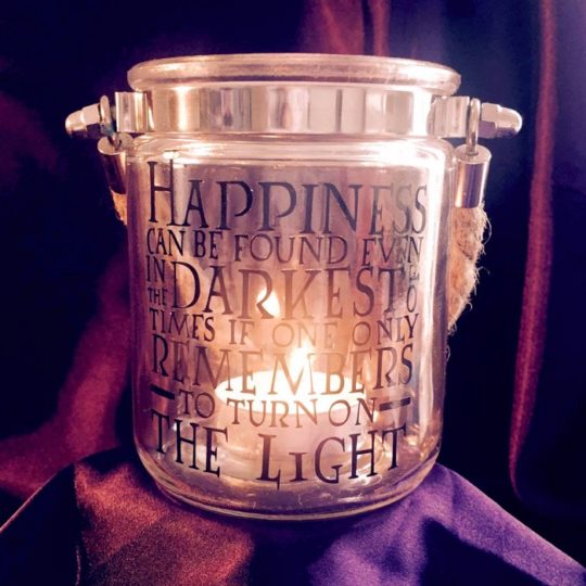 Harry Potter Quote Tealight