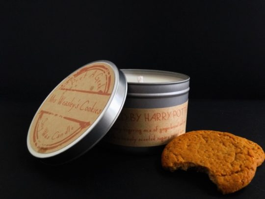 Harry Potter Scented Candle - Mrs Weasleys Cookies