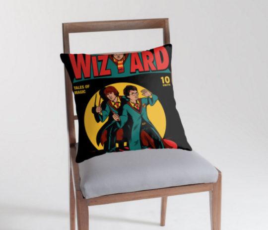 Harry Potter Wizard Comic Throw Pillow