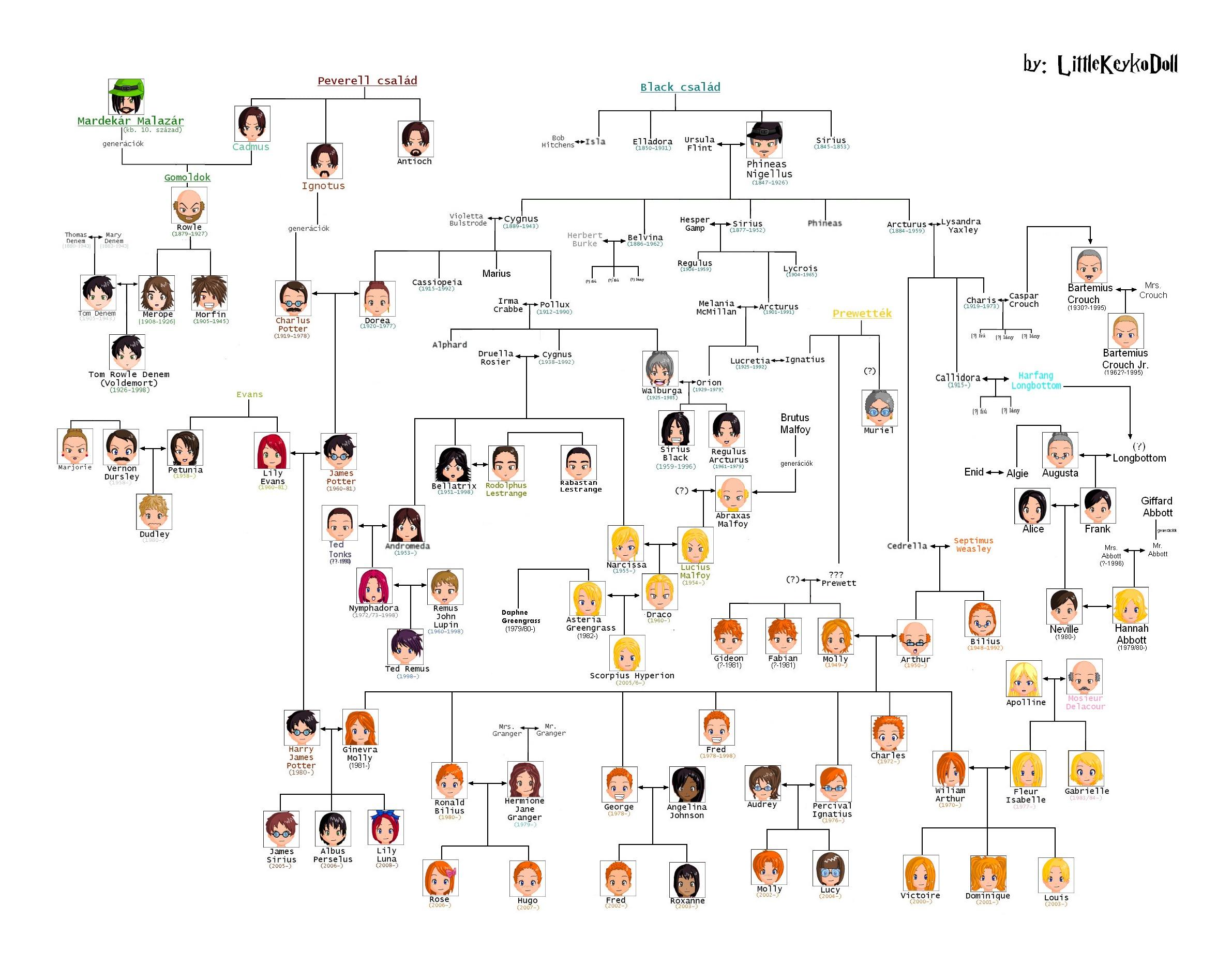 Harry-Potter family tree #chart