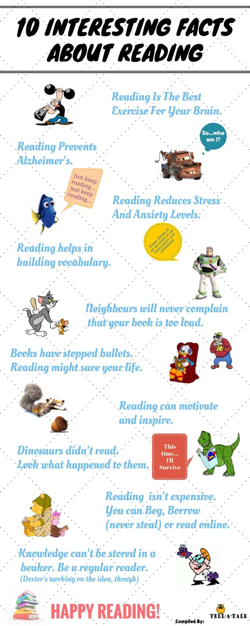 Interesting facts about reading - full infographic