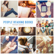 Lifestyle images people reading books