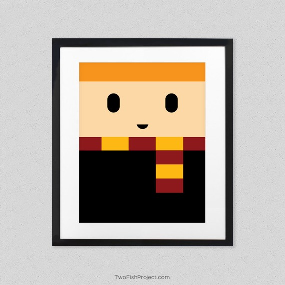 Minimalist Harry Potter poster - Ron Weasley
