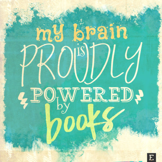 My brain is proudly powered by books #book #quote