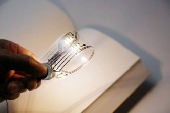 Light Bookmark - clever bookmark that folds down to become a mini light