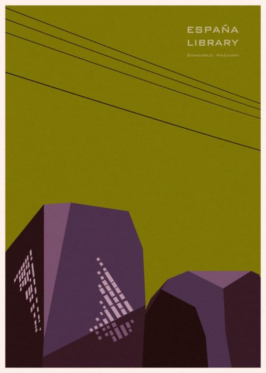 Minimalist library posters - Espana Library