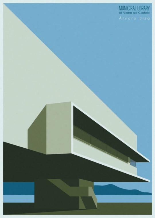 Minimalist library posters - Municipal Library of Viana do Castelo