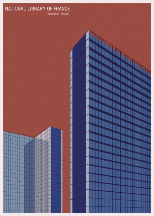 Minimalist library posters - National Library of France