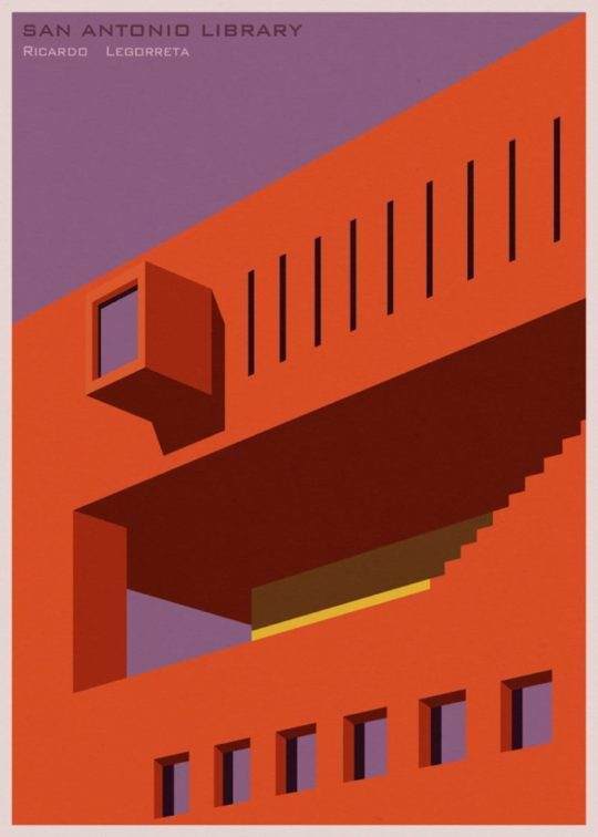 Minimalist library posters - San Antolio Library