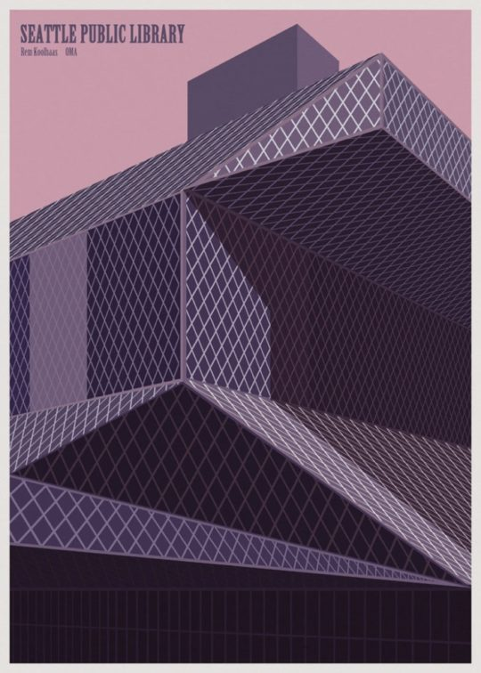 Minimalist library posters - Seattle Public Library