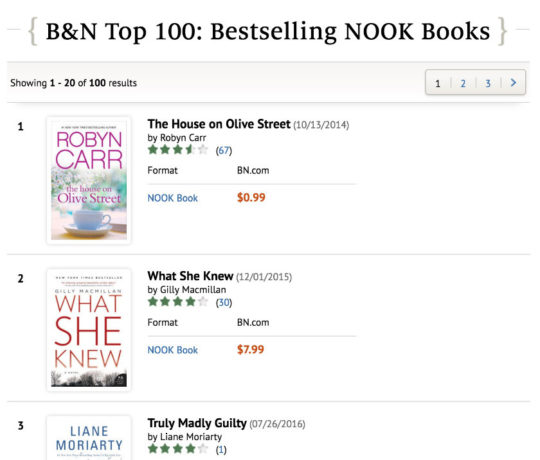 Nook store a guide to deals special sections and features nook store bestsellers fandeluxe Images