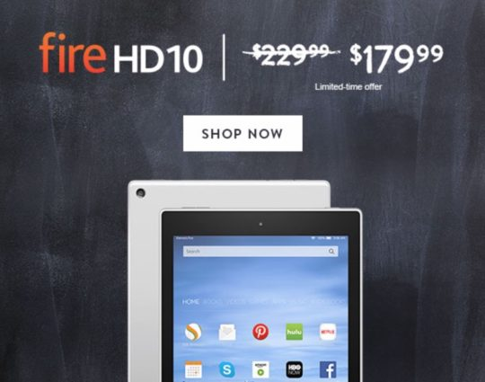 Save $50 on Amazon Fire HD 10