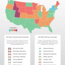 Which US states listen to the most audiobooks #infographic