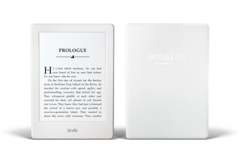 White Kindle 2016 update - front and back cover