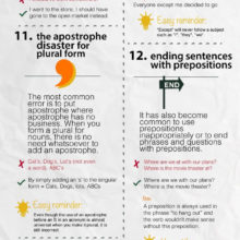 20 writing mistakes even native speakers make #infographic
