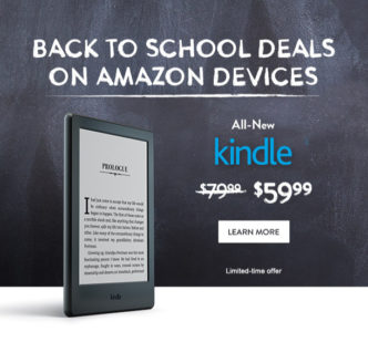 Back to school deals 2016 on Kindle and Fire devices