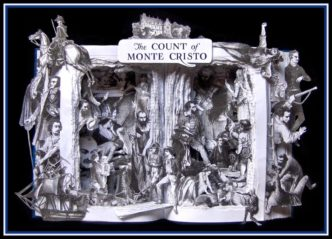 Book sculptures by Kelly Campbell Berry - The Count of Monte Cristo