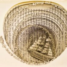 Book sculptures by Thomas Wightman - Obsession 2