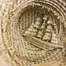 Book sculptures by Thomas Wightman - Obsession 4