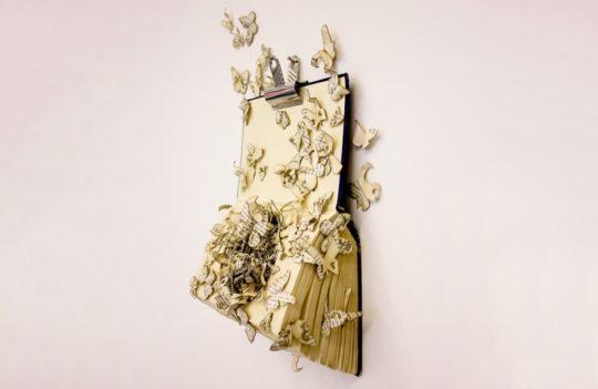 Book sculptures by Thomas Wightman - Plague 1