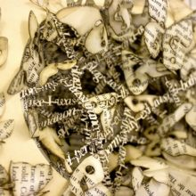 Book sculptures by Thomas Wightman - Plague 2