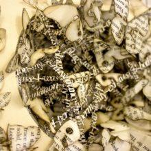 Book sculptures by Thomas Wightman - Plague 2