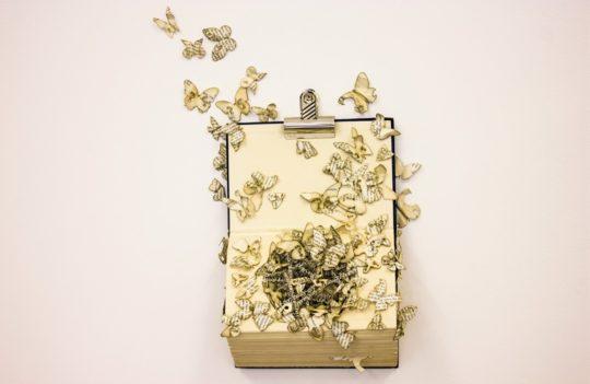 Book sculptures by Thomas Wightman - Plague 3