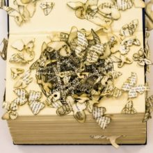 Book sculptures by Thomas Wightman - Plague 4