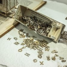 Book sculptures by Thomas Wightman - Train 4
