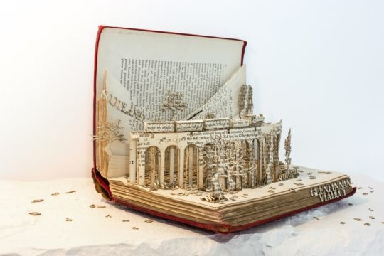 Book sculptures by Thomas Wightman - Visit Scotland 1
