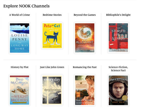 Explore Nook Channels - special Nook collections curated by Barnes & Noble booksellers