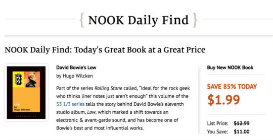 Nook Daily Find is one of the most important Nook Store deals