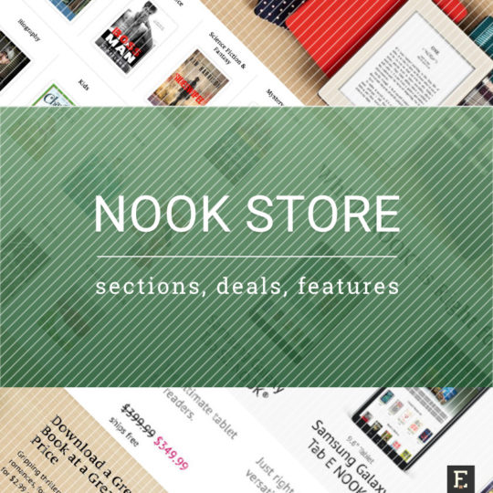 Nook Store - a guide to links, deals, sections, features