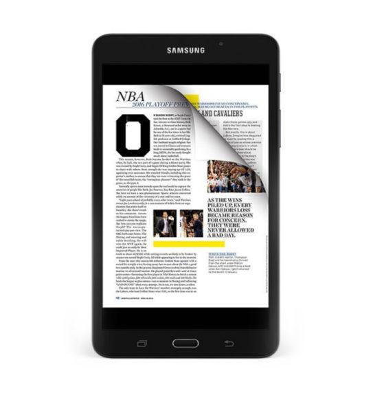 Samsung Galaxy Tab A Nook 7 - reading newspapers