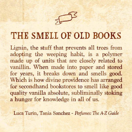 The smell of old books - an excerpt from Perfume: The A-Z Guide