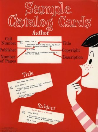 Vintage library posters - Sample Catalog Cards