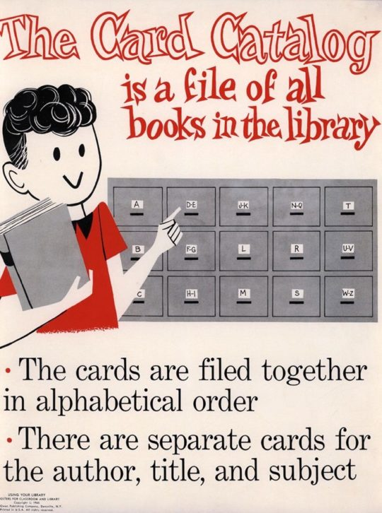 Vintage library posters - The Card Catalog