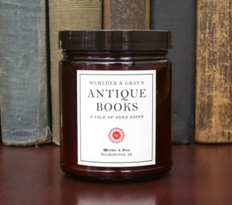 Werther and Grey - Antique Books scented candle