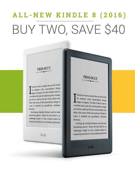 A deal for Kindle 8 (2016): buy two save $40