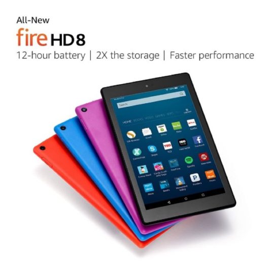 Amazon Fire HD 8 (2016) comes in four body colors