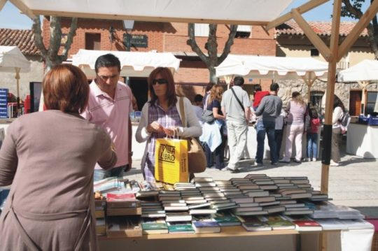 Book towns: Urueña - buying books on a main square