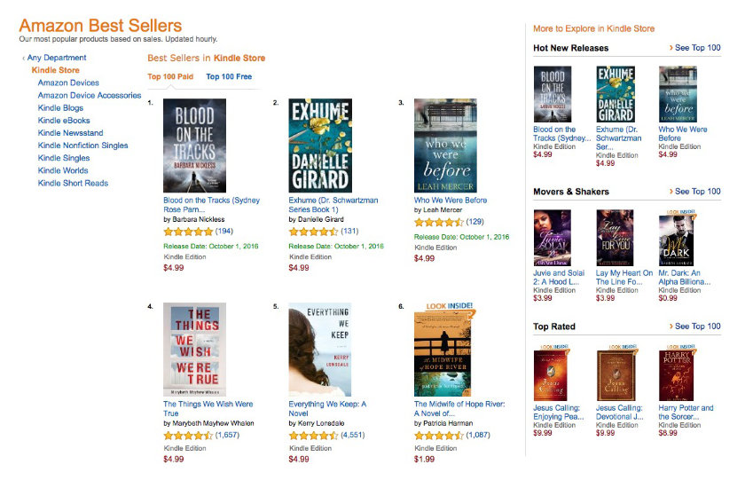 Current Top 100 Kindle bestsellers
